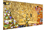 "Framed Gustav Klimt Tree Of Life art painting vintage canvas Portrait  16"" x 32"""