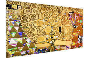 "Framed Gustav Klimt art painting vintage canvas Tree Of Life 32"""