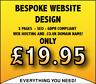 WEB DESIGN SERVICE - 3 PAGES / SMALL WEBSITE / .CO.UK DOMAIN INCLUDED!