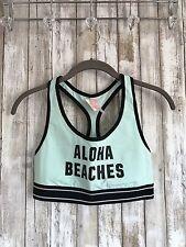 Victoria's Secret PINK Nation Mint Blue Aloha Beach Racerback Bralette Medium M*