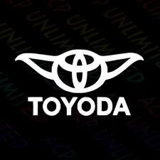 Funny Toyoda Star Wars Yoda Decal Sticker Toyota Vinyl Window Bumper