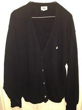 Vintage Izod Lacoste Men's Cardigan Sweater Black Size XL