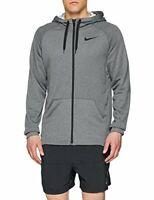 Nike Snorkel Neckline Long Sleeve Dri-FIT Full-Zip Training Hoodie (Gray, S)