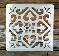 Moroccan Style Ornate Tile Stencil 190 Micron Mylar Washable Reusable 15 x 15cm