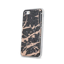 "Apple iPhone 6 4,7"" Schwarz Marmoriert TPU Stein Muster Hülle Case Tasche Bling"
