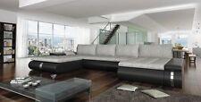 Piccolo de luxe canapé d'angle avec fonction sommeil confort moderne bettkast