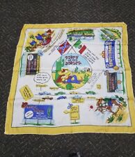 Vtg 50's South of the Border Japan silk souvenir scarf with flags