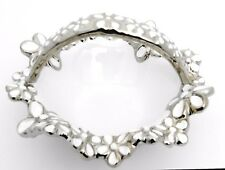 Elegant ceramic silver & white flower basket/ Gift /Home decorative