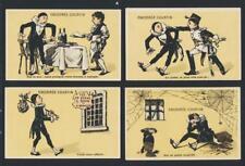 """CHICOREE COURTIN"" HUMOROUS CHROMO ADVERTISING / TRADE CARD GROUP (10)"