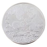 2020 Jahr der Ratte Andenkenmünze Chinese Zodiac Challenge SammelmünzeWQ