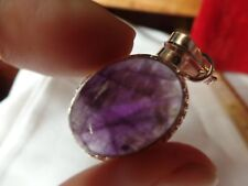 AMETHYST Pendant: (with chain)