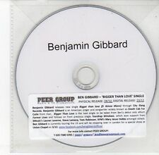 (DV596) Benjamin Gibbard, Bigger Than Love - 2012 DJ CD