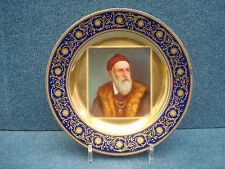"Royal Vienna Porcelain Plate Nice Quality With Portrait Of ""Tizian"" 1850-1890"