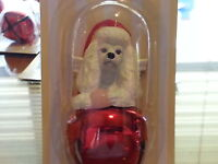 3 Pc Set POODLE Dog Figurine Red Brass Bells By DNC Collections Ornaments Lot