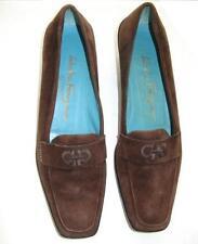 Salvatore Ferragamo Boutique Shoes Brown Suede Size 8 2A Vintage 1980's