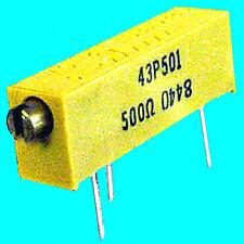 5 500 Pot Miniature Multi Turn Precision Trimmer