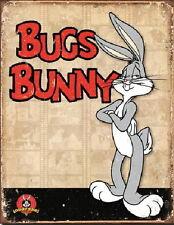 Bugs Bunny Figure Retro Panels Art Vintage Weathered Tin Sign Poster NEW UNUSED