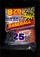 25 1981 and 1984 Donruss Wax/Cello Unopened Baseball Packs  - Please Read