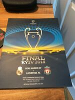 2018 UEFA CHAMPIONS LEAGUE FINAL PROGRAMME REAL MADRID V LIVERPOOL @ KIEV
