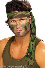 HOMBRE MUJER Camuflaje Militar Rambo Diadema Bufanda Accesorio para disfraz