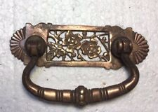 """East Lake 2 1/2"""" Drawer Pull, Lot of 2, Antique Solid Brass, Filigree Roses"""