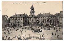 CPA 35 - RENNES (Ille et Vilaine) - 1021. L'Hôtel de Ville et la Place un Jour d