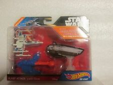 HOT WHEELS STAR WARS BLAST ATTACK RESISTANCE X WING FIGHTER NEW ON CARD