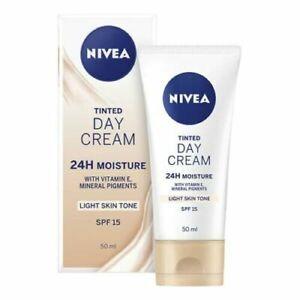 Nivea Face Tinted SPF15 Day Cream 50ml, Vitamin E Light Skin Tone +24h Moisture