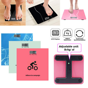 Not-Salter Digital Black Bathroom Scales Compact Glass Profile Body Weighing9207