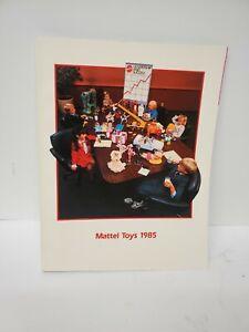 1985 MATTEL  DEALER TOY FAIR CATALOG BARBIE HOT WHEELS RAILROAD SPECTRA MOTU