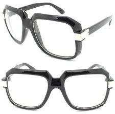 Herren Vintage durchsichtige Linse Dreist Rahmen Brillen RUN DMC Hip Hop dick