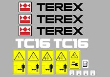 TEREX TC16 DIGGER DECALS & WARNING STICKERS