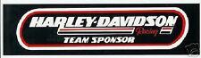 Harley Davidson Racing Team Sponsor Aufkleber 29x7cm Decal Bumper Sticker HD XL