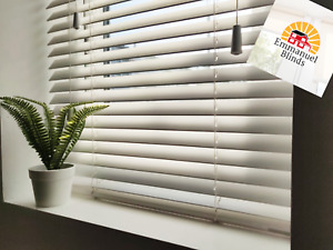 Venetian Fauxwood blinds 35mm & 50mm slats up to 2.4metres wide various colours