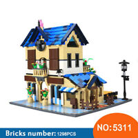 Luxury Mansion Large Country House Building Bricks Construction Blocks Toy Set