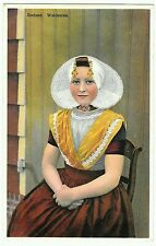 Zealand. Walcheren. Colour postcard, girl seated in traditional dress. Unposted.