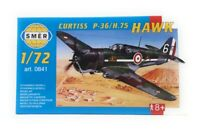 SMER Modellbau Kunststoff Modellbausatz Militär 1:72 Flugzeug Curtiss P 36 H 75