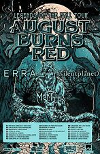 "AUGUST BURNS RED ""LEGENDS OF THE FALL TOUR"" 2016 NORTH AMERICAN CONCERT POSTER"