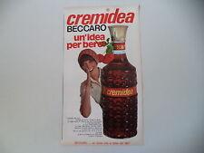 advertising Pubblicità 1973 CREMIDEA BECCARO