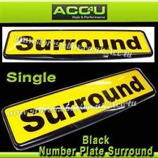 Quality Black Car License Registration Number Plate Single Surround Frame Holder