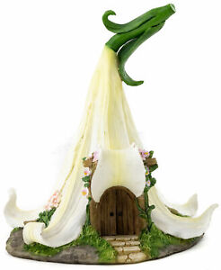 White Lily Fairy House TO 4868 Miniature Fairy Garden
