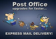 MAGNET Funny Humor Fridge POST OFFICE Upgrades for Faster Express Mail Delivery