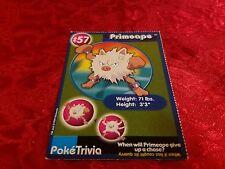 Burger King Pokemon Promo Card Primeape #57