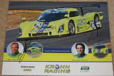 2009 Krohn Racing #76 Ford Daytona Prototype signed Grand Am postcard