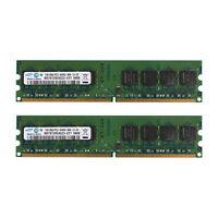 New  2x1GB PC2-6400 DDR2 800Mhz Pc2 240Pin Dimm Low Density Desktop Intel Memory