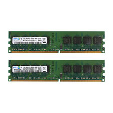 Samsung 2x 1GB PC2-6400 DDR2 800Mhz 240Pin Dimm Low Density Desktop Intel Memory