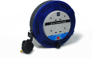 Extension Lead Masterplug 10m, 4 Gang, 10 Amp Cable Reel