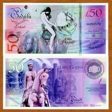 England, 50 Pounds, Private Issue Polymer, 2019 > Lady Godiva