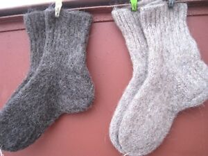 winter warm Socks unisex HandKnitted 100% natural RUSSIAN sheep wool yarn craft