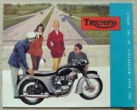 TRIUMPH MOTORCYCLES 1963 Range Sales Brochure #783/62 T20 3TA 5TA T120 T100S/S +